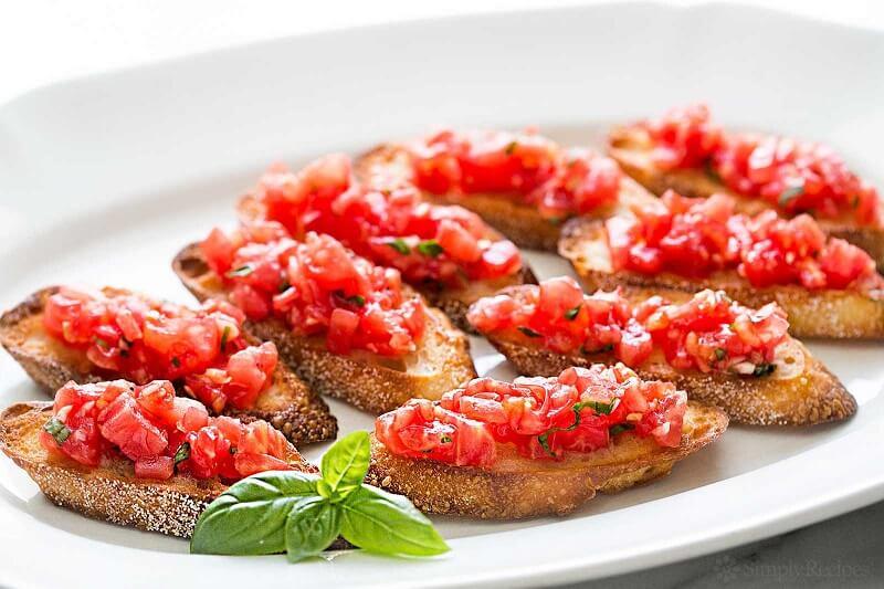 Bruschetta dengan Tomat Kemangi