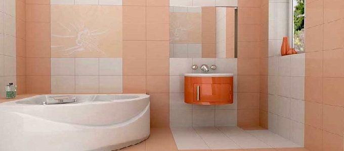 Keramik Kamar Mandi Berwarna Orange