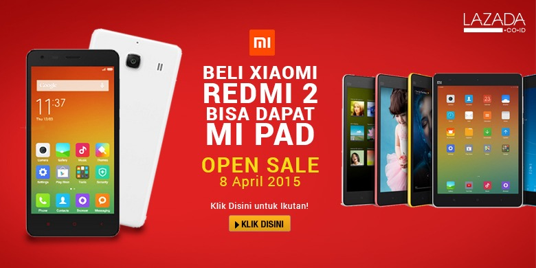 Mi Fan Sale Xiamoi Red Mi 2 di Lazada Indonesia