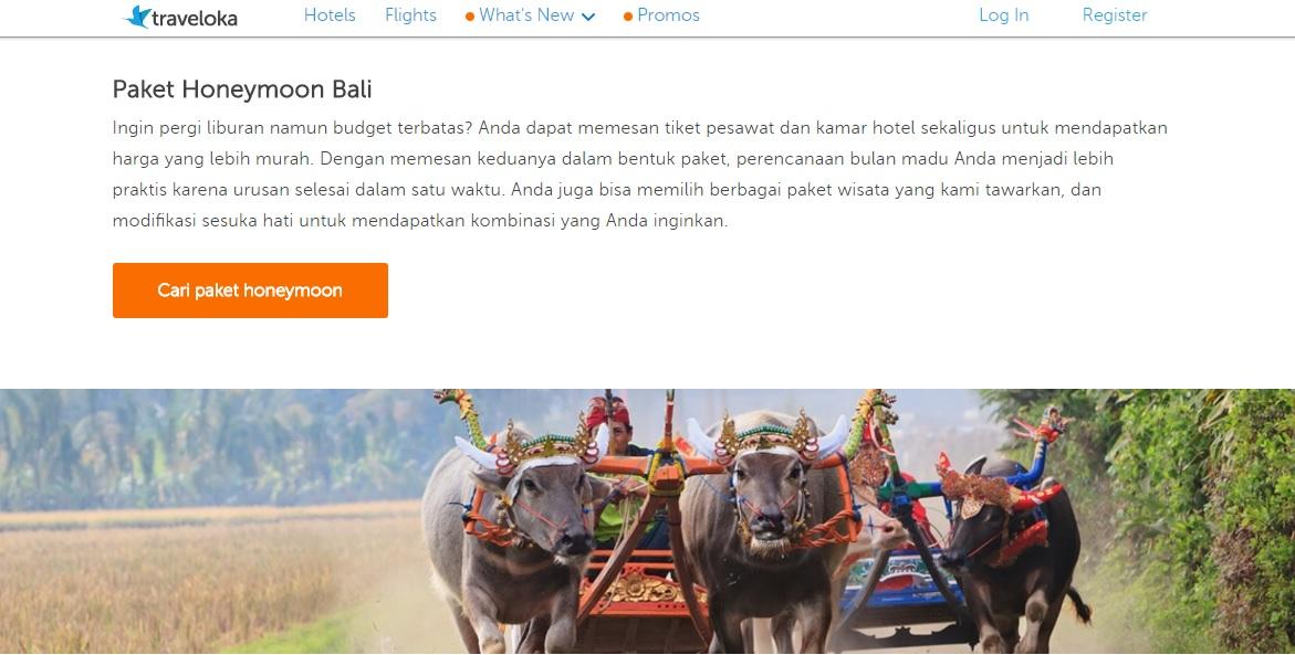 Paket Honeymoon Bali Traveloka