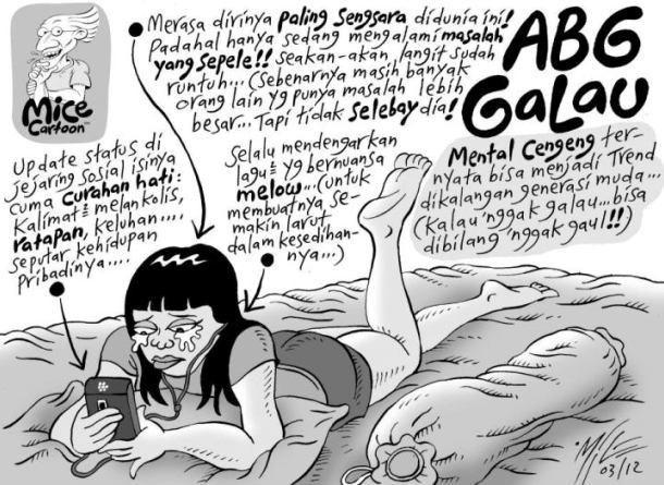 ABG Galau Versi Mice Cartoon