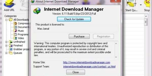 Internet Download Manager 6.11 Sukses di Patch
