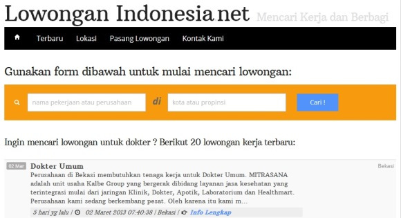 Cari Lowongan Kerja di LowonganIndonesia.net