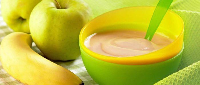 MPASI Anak dengan Apel dan Pisang