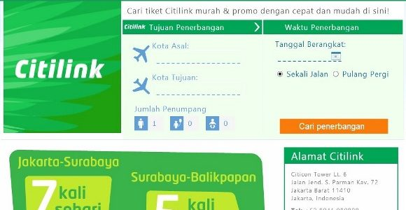 Tiket Murah Citilink di Traveloka